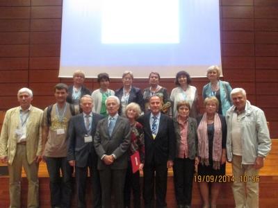 Делегация ИГЭ РАН с Президентом МАИГ К.Дельгадо (Испания) и Председателем Оргкомитета XII Международного Конгресса МАИГ Д.Лоллино(Италия)